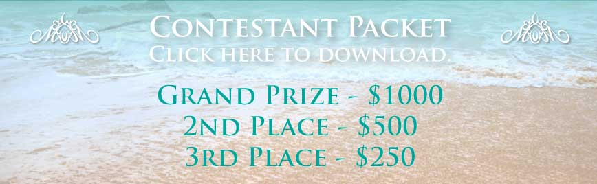 Click to download the contestant packet. Grand Prize - $1000, 2nd Place - $500, 3rd Place - $250.